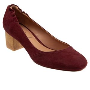 Everly Dark Red Suede